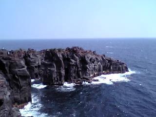城ヶ崎海岸の崖