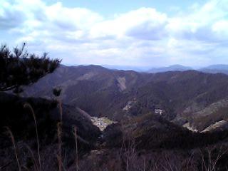 枯山の眺望