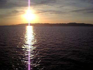 紀伊水道の夕日