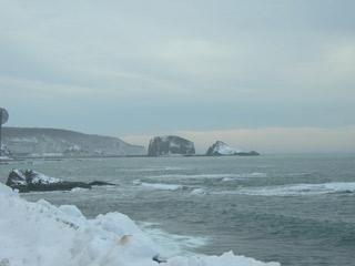 ウトロ崎、オロンコ岩200701